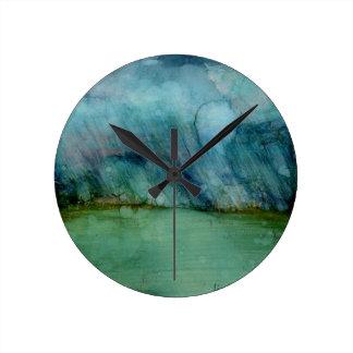 Stormy Weather Round Clock
