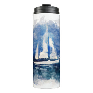 Stormy Weather Sail Boat Thermal Tumbler