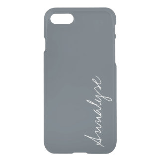 Stormy Weather Slate Gray Solid Color Custom iPhone 7 Case