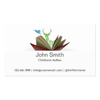 Story Book Children s Author Business Card