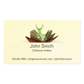 Story Book Children s Author Business Card 2