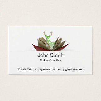 Story Book Children's Author Business Card 2
