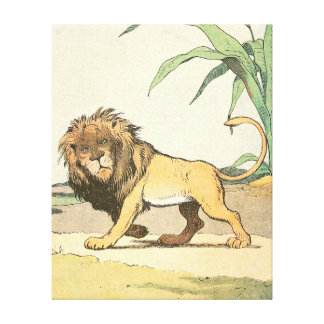 Story Book Lion in the Jungle Gallery Wrap Canvas