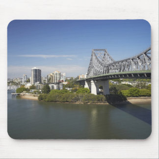 Story Bridge, Brisbane River, and Kangaroo Mouse Pad