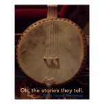 Story Gourd Poster- Rooster Bass Banjo
