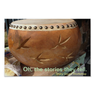 Story Gourd Poster- Rooster Gourd Poster