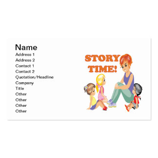 Story Time 3 Pack Of Standard Business Cards