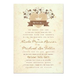 Storybook Crest  Wedding Invite