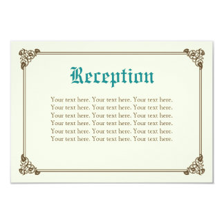 Storybook Fairytale Wedding Insert Card - Teal 9 Cm X 13 Cm Invitation Card