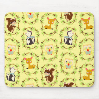 storybook forest mouse mat