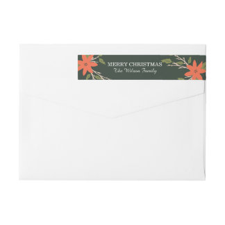 Storybook Holiday Wrap Around Label