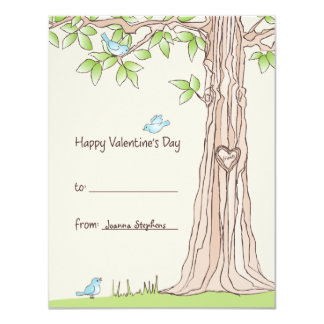 Storybook Kids Valentine Card 11 Cm X 14 Cm Invitation Card