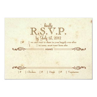 Storybook RSVP 9 Cm X 13 Cm Invitation Card