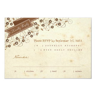 Storybook RSVP Response Card 9 Cm X 13 Cm Invitation Card