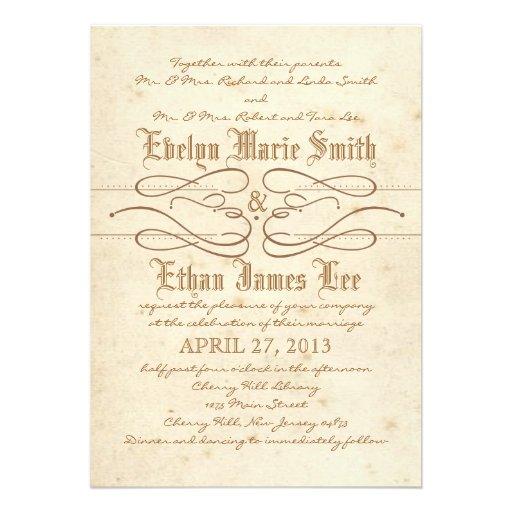 Storybook Swirl Wedding Invitation
