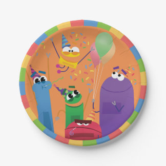 StoryBots Party Paper Plate