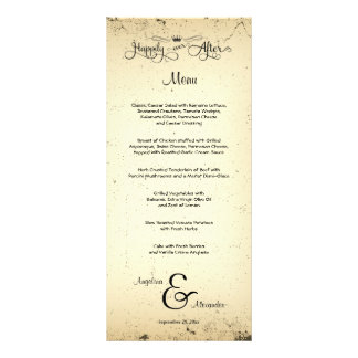 Storyline Customisable Wedding Menu Card