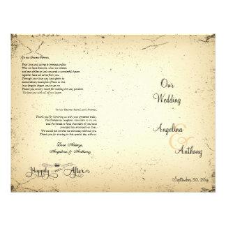 Storyline Formal Wedding Program Flyer Design