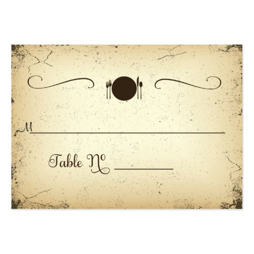Storyline Formal Wedding Table Place Card Business Card