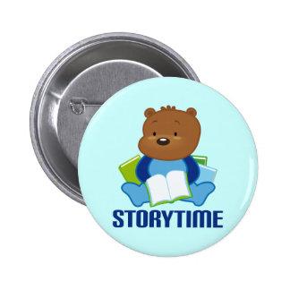 STORYTIME TEDDYBEAR PINBACK BUTTON