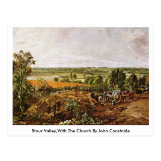 Stour Valley,With The Church By John Constable Postcard