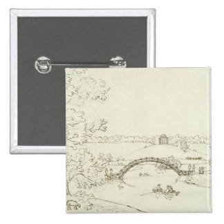 Stourhead, c.1780s (pen and ink on paper) 15 cm square badge