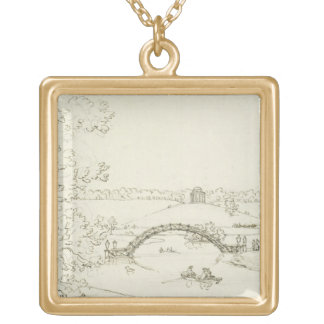 Stourhead, c.1780s (pen and ink on paper) custom jewelry
