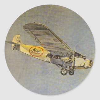 Stout Airlines Round Sticker