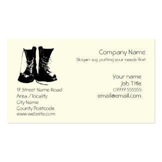 Stout Work Boots Generic logo Pack Of Standard Business Cards