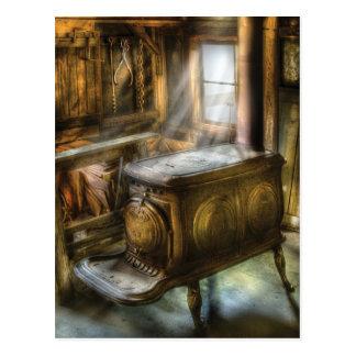 Stove - A warm cosy stove Postcard