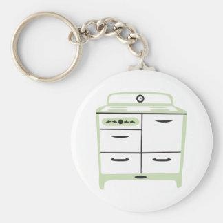 Stove Basic Round Button Key Ring