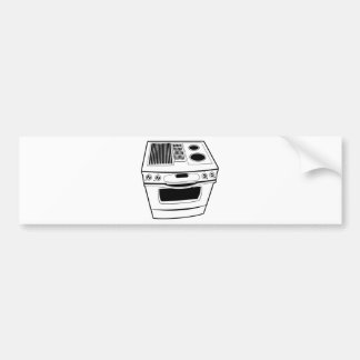 Stove Drawing Bumper Sticker
