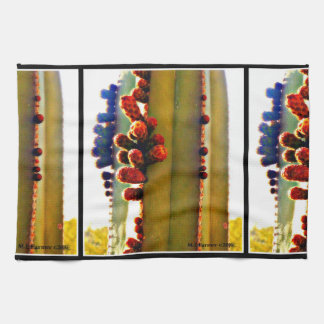 Stove Pipe Cactus in Bloom Kitchen Towel