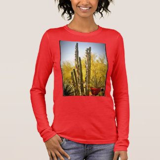 Stove Pipe Cactus in Bloom Women's Tee Shirt