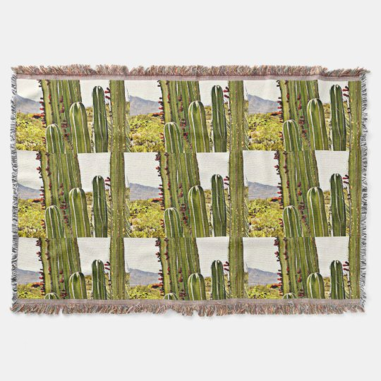 Stove Pipe Cactus Throw Blanket