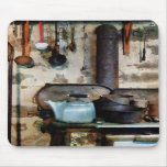 Stove With Tea Kettle Mousepads