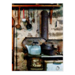 Stove With Tea Kettle Postcard
