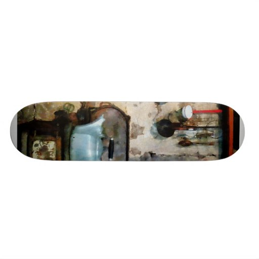 (Stove With Tea Kettle Skate Deck