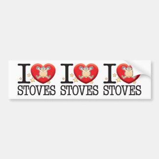Stoves Love Man Bumper Sticker