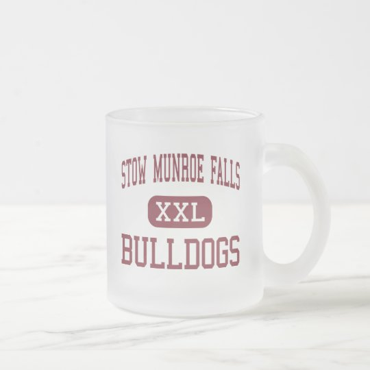 Stow Munroe Falls - Bulldogs - High - Stow Ohio Frosted Glass Coffee Mug