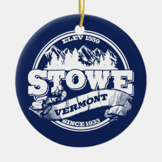 Stowe Old Circle Blue Christmas Ornament