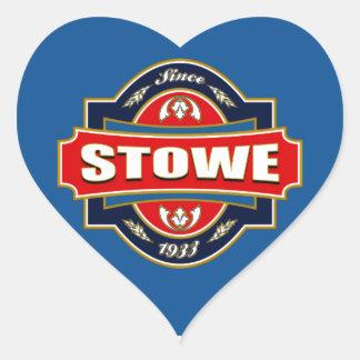 Stowe Old Label Heart Sticker