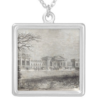 Stowe - the Garden Front Silver Plated Necklace