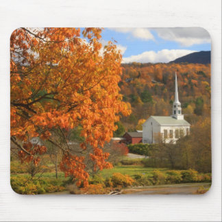 Stowe Vermont in Autumn Mouse Mat