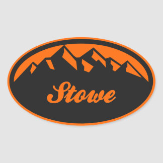 Stowe Vermont Oval Sticker