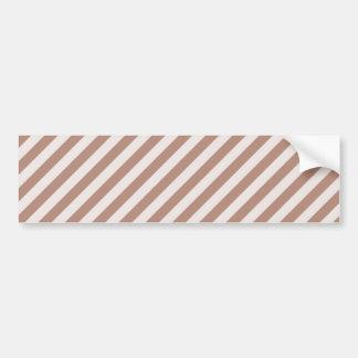 STR-BRO-1 Brown and white striped Bumper Stickers