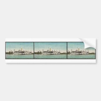"Str. ""New York"", Thousand Islands classic Photochr Bumper Sticker"