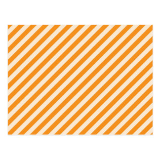 [STR-OR-1] Orange and white candy cane striped Postcard