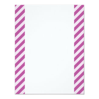 "[STR-PU-1] Purple and white candy cane striped 4.25"" X 5.5"" Invitation Card"