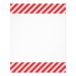 [STR-RD-1] Red and white candy cane striped 11.5 Cm X 14 Cm Flyer